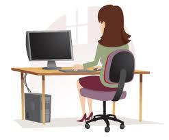 Blog image woman working on a desktop computer