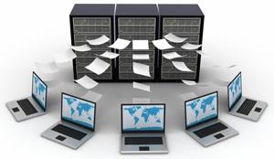 Blog servers sending files to laptops