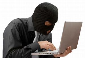 Blog image thief stealing information on the computer