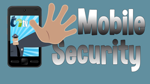 TNtv image police man reaching out of a smart phone with text mobile security