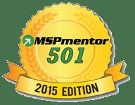 Blog image golden ribbon with MSPmentor 501 lettering on a transparent background