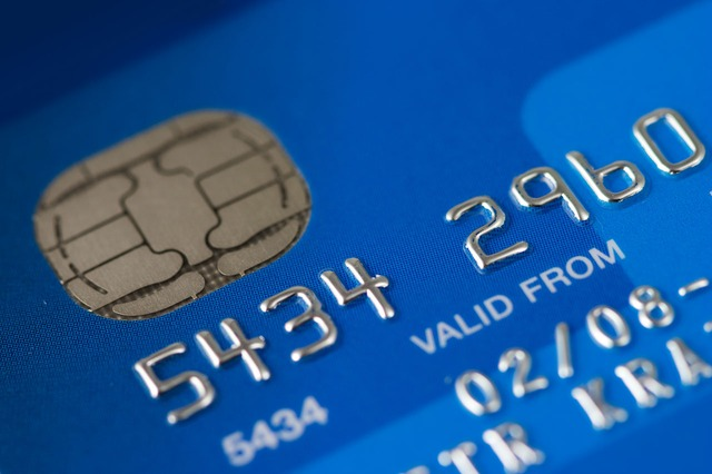 Blog image up close blue credit car chip with numbers