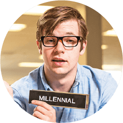 Blog image young millennial with glasses