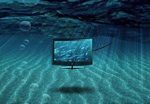 Blog image monitor floating in the sea
