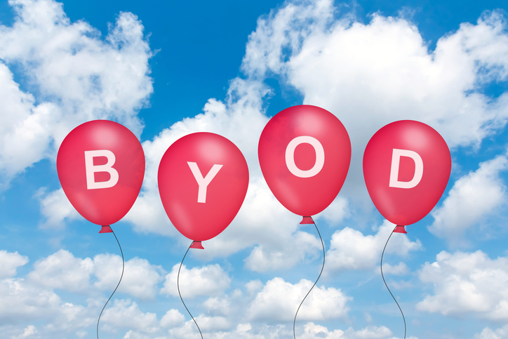 Blog image BYOD or Bring Your Own Device text on balloon