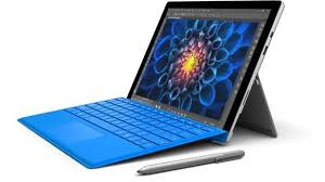 Blue tablet with keyword and stylus