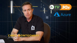 TNtv screen shot Chris Montgomery speaks about azure with dark blue background